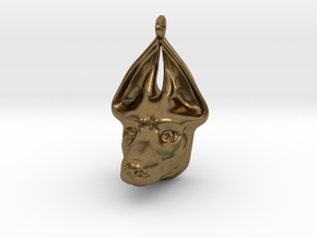 Egyptian Dog Pendant in Natural Bronze