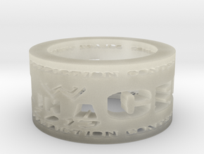 HIAC Prediction Winner Ring Ring Size 8.5 in Transparent Acrylic