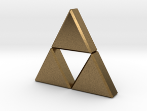 Triforce in Natural Bronze