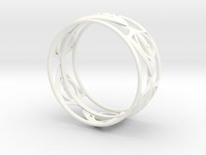 1000 BraceletBangle in White Processed Versatile Plastic