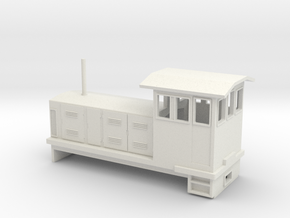 "HOn30 Endcab Locomotive (""Elke"") one p in White Natural Versatile Plastic"