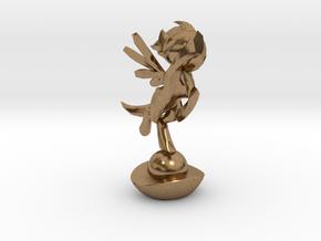 Mini Pone Troph in Natural Brass