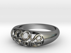 Ring of Waves (Size 7) in Polished Silver