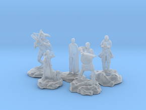 Cleric, Fighter, Rogue, Ranger, and Sorcerer in Frosted Ultra Detail