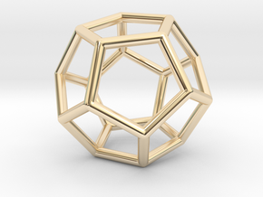 Dodecahedron Pendant in 14K Yellow Gold