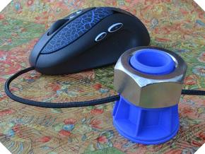 Mouse Cord Holder in Blue Processed Versatile Plastic