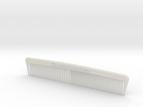 Pocket Comb, 5 inch, Coarse/Fine in White Strong & Flexible