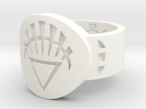 White Lantern FF (Sz's 5-15) in White Processed Versatile Plastic