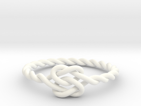 True Lover's Knot Ring in White Processed Versatile Plastic