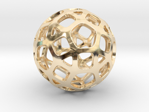DodecaBall Pendant in 14K Yellow Gold