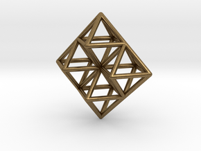 Octahedron Pendant in Natural Bronze