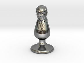 Mr. Putin Plug in Fine Detail Polished Silver