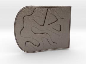 Zodiac3 in Polished Bronzed Silver Steel