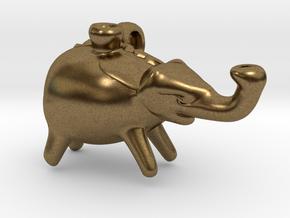 Roman Elephant Pendant (Askos) in Natural Bronze