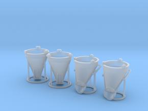 N 1:160 Betonsilo Set in Smooth Fine Detail Plastic