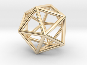 Icosahedron Pendant in 14K Yellow Gold