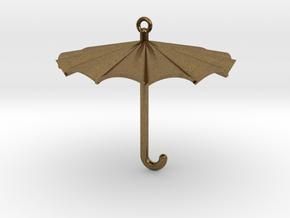 Umbrella Charm in Natural Bronze
