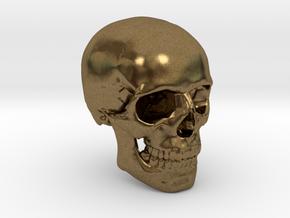 18mm 0.7in Human Skull Crane Schädel че́реп in Natural Bronze