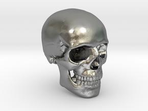 18mm 0.7in Human Skull Crane Schädel че́реп in Natural Silver