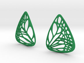 Colorful Butterfly Earrings (L) in Green Processed Versatile Plastic