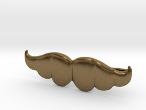 """Brazilian"" Moustache Tie Bar (Metals) in Natural Bronze"