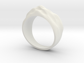 Sand Dune Ring in White Natural Versatile Plastic