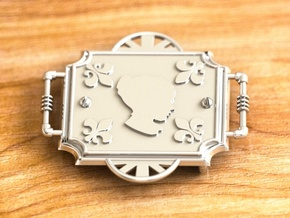 Steam Punk Buckle 35 mm(model one) in Polished Silver