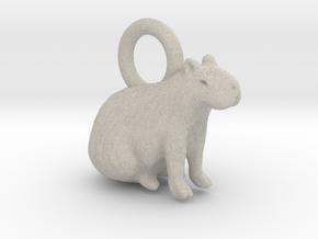 1-1/2 inch Capybara Pendant in Natural Sandstone