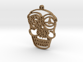 Skull Pendant in Natural Brass