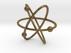Atom Pendant in Polished Bronze