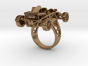 Atom Ring size 7 wo wings LHD in Natural Brass