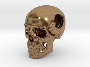 18mm .7in Bead Human Skull Crane Schädel че́реп in Natural Brass