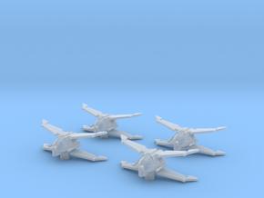 4x Black Sun Fighter 1/270 in Smooth Fine Detail Plastic