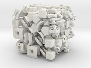 Mars DoDep 3x3x3 in White Natural Versatile Plastic