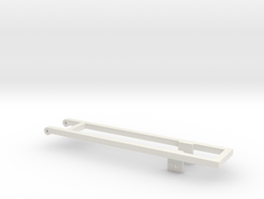 1/64 18' Mounting frame for truck in White Natural Versatile Plastic