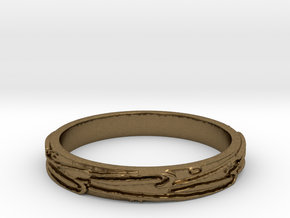 Ring of Love Know Boarders Ring Size 7.5 in Natural Bronze