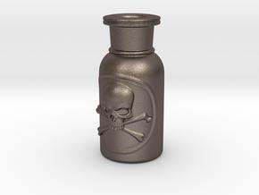 Skull and Crossbones Poison Bottle  in Stainless Steel