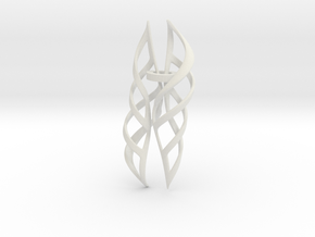 Shell Nine Pair in White Natural Versatile Plastic