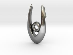 Scifi Pendant in Polished Silver