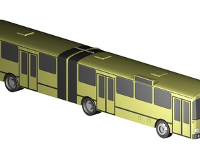 Gelenkbus / articulated bus (1:220) in Smooth Fine Detail Plastic