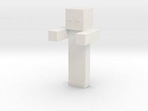 Minecraft Zombie V2 in White Natural Versatile Plastic