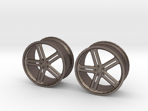 17 Inch Wheel in Polished Bronzed Silver Steel