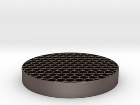 Honeycomb KillFlash 48mm diam 7mm height 4 mm clea in Stainless Steel