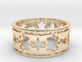 Door Knocker Plate Ring (Size 7) in 14K Yellow Gold