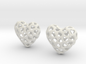 Small hearts, Big love (from $17.50) in White Natural Versatile Plastic
