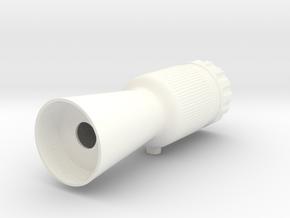 Flash Hider Stunt in White Processed Versatile Plastic
