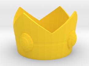 Princess Peach cosplay mini crown in Yellow Processed Versatile Plastic