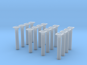 00 scale Underground station Roof Support Columns  in Smooth Fine Detail Plastic
