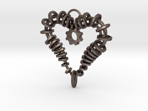 Heart of my Soul Pendant in Polished Bronzed Silver Steel