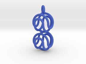 Marble Pendant v2 in Blue Processed Versatile Plastic